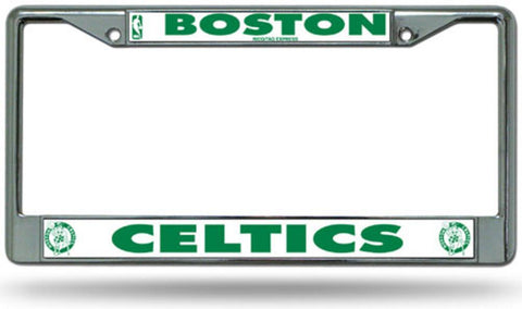 Chrome License Plate Frame - Boston Celtics - Peazz.com