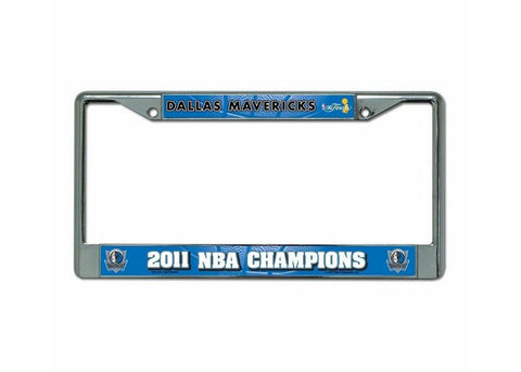 Chrome License Plate Frame - Dallas Mavericks - Peazz.com
