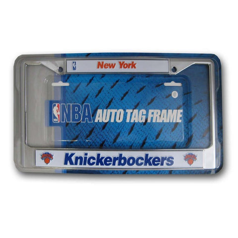 Chrome License Plate Frame - New York Knicks - Peazz.com