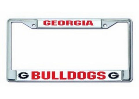 Chrome License Plate Frame - Georgia Bulldogs - Peazz.com