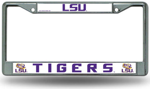 Chrome License Plate Frame - Lsu Fighting Tigers - Peazz.com
