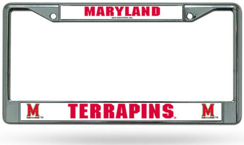 Chrome License Plate Frame - Maryland Terrapins - Peazz.com