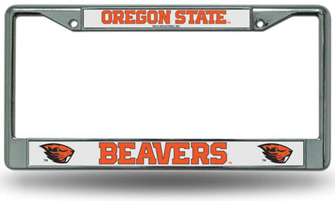 Chrome License Plate Frame - Oregon State Beavers - Peazz.com