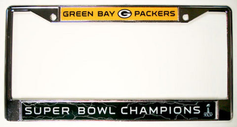Chrome License Plate Frame - Green Bay Packers - Peazz.com