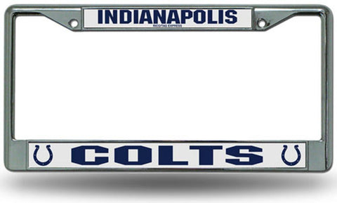 Chrome License Plate Frame - Indianapolis Colts - Peazz.com