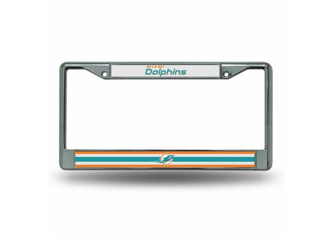 Chrome License Plate Frame - Miami Dolphins - Peazz.com