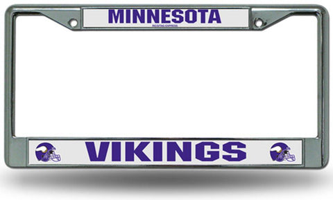 Chrome License Plate Frame - Minnesota Vikings - Peazz.com
