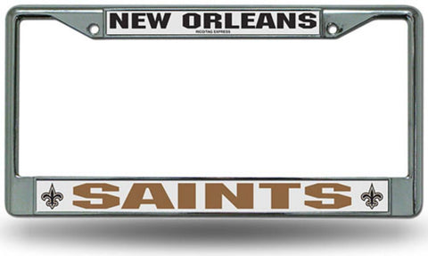 Chrome License Plate Frame - New Orleans Saints - Peazz.com