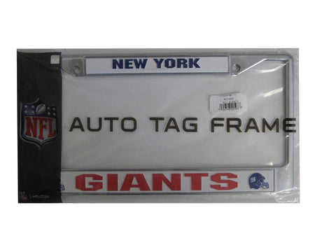 Chrome License Plate Frame - New York Giants - Peazz.com