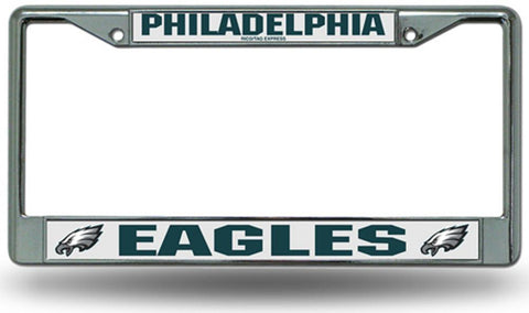 Chrome License Plate Frame - Philadelphia Eagles - Peazz.com