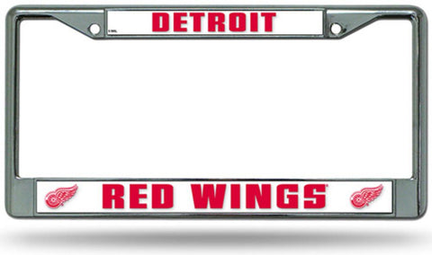 Chrome License Plate Frame - Detroit Red Wings - Peazz.com
