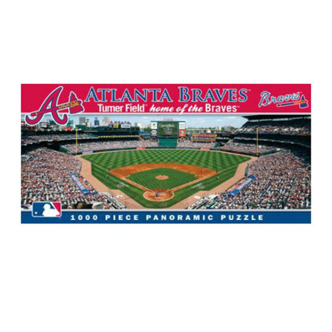 1000 Piece Ballpark Puzzle - Atlanta Braves - Peazz.com