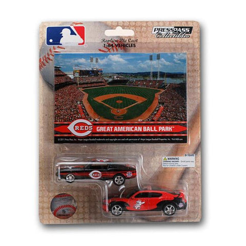 MLB Ford Mustang And Dodge Charger 1:64 Scale Diecast Cars - Cincinnati Reds - Peazz.com