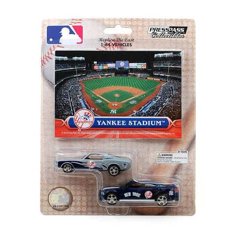 MLB Ford Mustang And Dodge Charger 1:64 Scale Diecast Cars - New York Yankees - Peazz.com