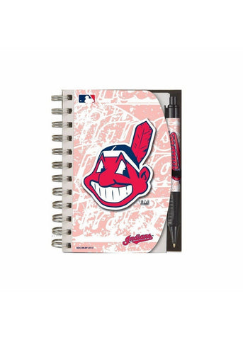 Deluxe Hardcover 4X6 Notebook & Pen Set (Grip) - Cleveland Indians - Peazz.com