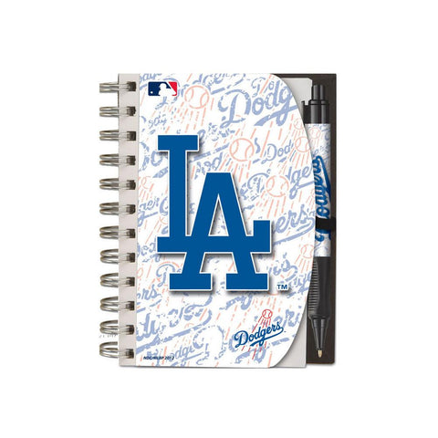 Deluxe Hardcover 4X6 Notebook & Pen Set (Grip) - Los Angeles Dodgers - Peazz.com