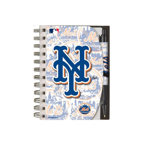 Deluxe Hardcover 4X6 Notebook & Pen Set (Grip) - New York Mets - Peazz.com