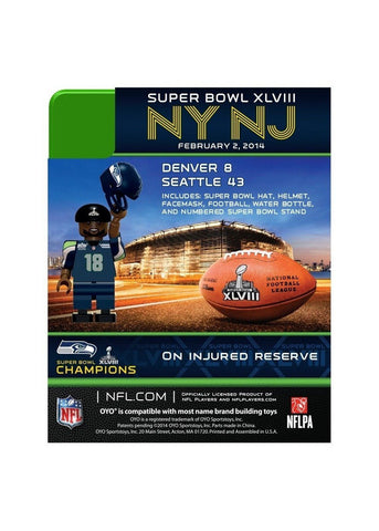 Super Bowl 48 Champ OYO - Seattle Seahawks Sidney Rice - Peazz.com
