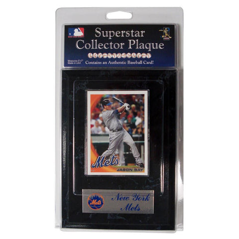Card Plaque - New York Mets Jason Bay - Peazz.com