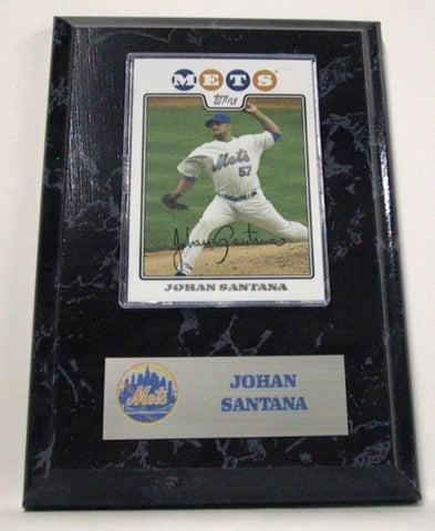MLB Card Plaques - New York Mets - Johan Santana - Peazz.com