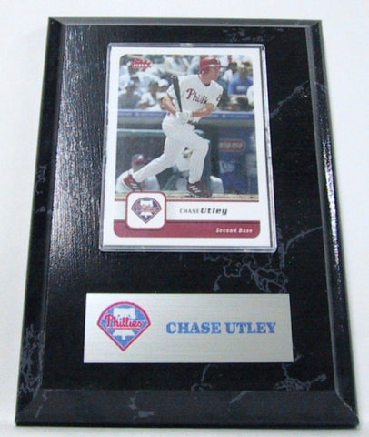 MLB Card Plaques - Philadelphia Phillies-Chase Utley - Peazz.com