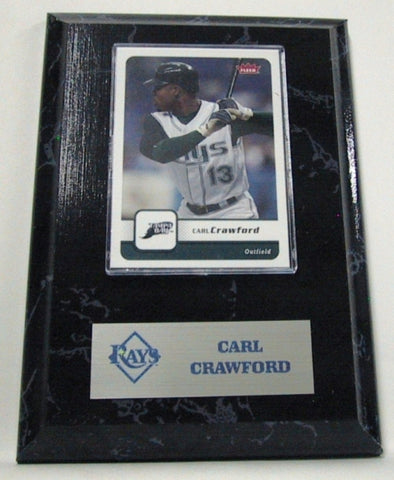 MLB Card Plaques - Tampa Bay Rays-Carl Crawford - Peazz.com