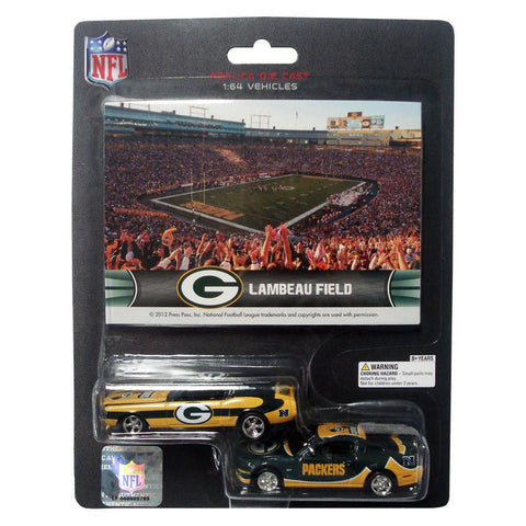 Ford Mustang And Dodge Charger 1:64 Scale Diecast Cars - Green Bay Packers - Peazz.com
