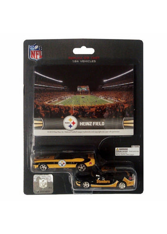 Ford Mustang And Dodge Charger 1:64 Scale Diecast Cars - Pittsburgh Steelers - Peazz.com