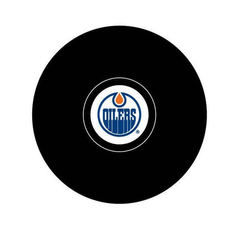 Team Logo Hockey Puck - Edmonton Oilers - Peazz.com