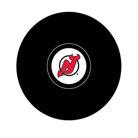 Team Logo Hockey Puck - New Jersey Devils - Peazz.com