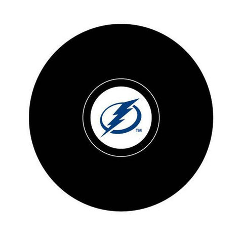 Team Logo Hockey Puck - Tampa Bay Lightning - Peazz.com