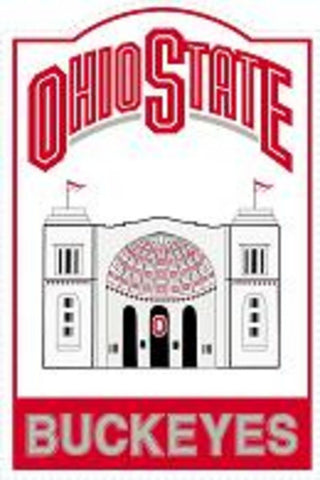 Ncaa Nostalgic Metal Sign - Ohio State - Peazz.com