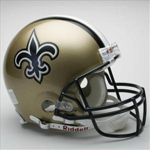NFL Full Size Deluxe Replica Helmet - Saints - Peazz.com