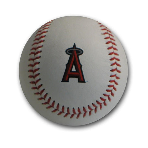 Blank Leather MLB Team Logo Baseballs - Los Angeles Angels - Peazz.com