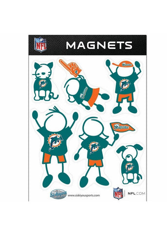 Family Magnets - Miami Dolphins - Peazz.com