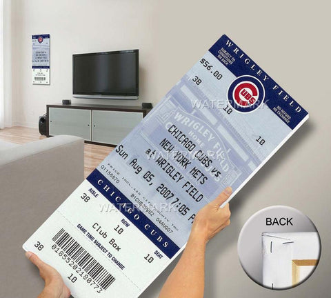 Tom Glavine 300Th Win Canvas Mega Ticket New York Mets - Peazz.com