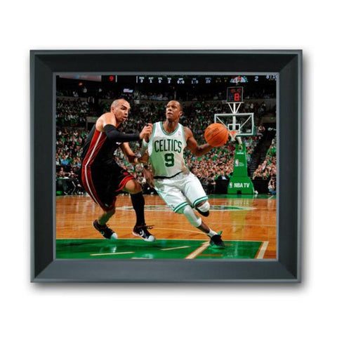 13 X 11 3-D Photo Treehugger Framed - Boston Celtic Rajon Rondo - Peazz.com