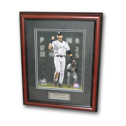 Derek Jeter 8-By-10-Inch With Tree Hugger Frame - Peazz.com