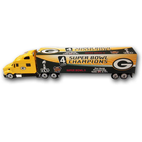 Super Bowl 45 4X Champions Green Bay Packers Tractor Trailer - Peazz.com