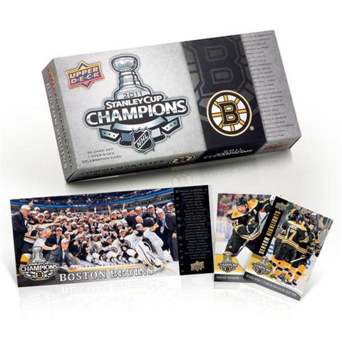 2010/11 Upper Deck Stanley Cup Champs Boston Bruins Boxed Set - Peazz.com