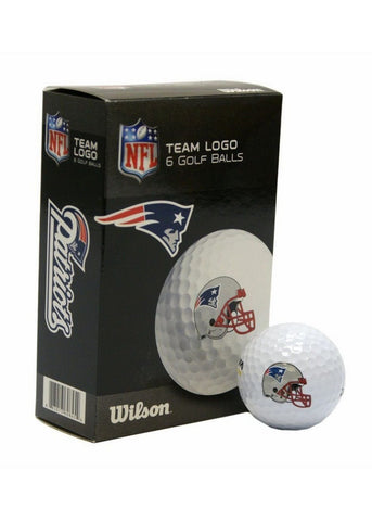 6 pack Wilson Golf Balls - New England Patriots - Peazz.com