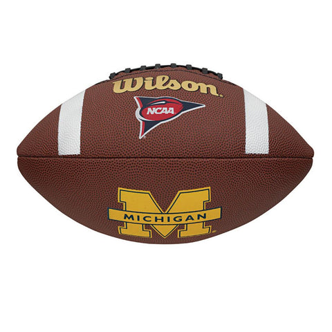 Wilson Composite Football - Michigan Wolverines - Peazz.com
