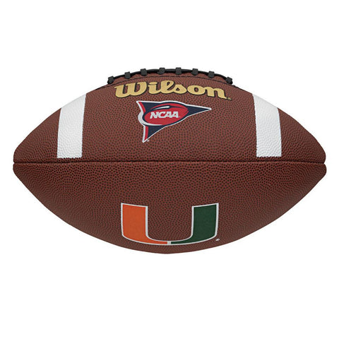 Wilson Composite Football - Miami Hurricanes - Peazz.com