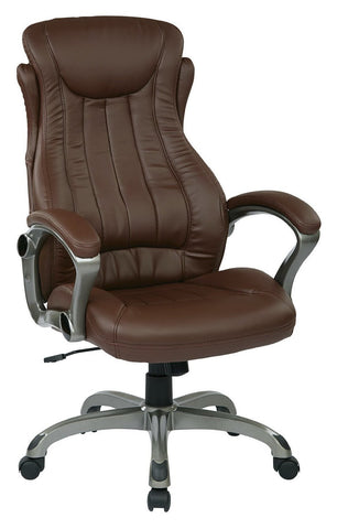Work Smart ECH31827-EC6 Eco Leather Executive Manger's Chair (Titanium/Wine) - Peazz.com