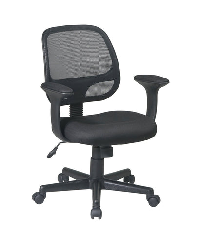 "Office Star Work Smart EM20222-3 Screen Back Task Chair with ""T"" Arms - Peazz.com"