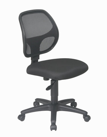 Office Star Work Smart EM2910 Mesh Screen Back Task Chair with Fabric Seat - Peazz.com