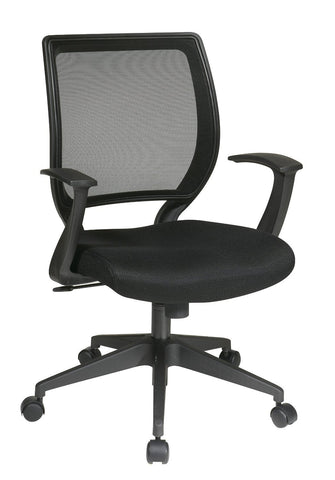 "Office Star Work Smart EM51022N-3 Screen Back Task Chair with ""T"" Arms - Peazz.com"
