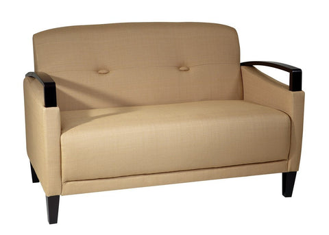 Office Star Ave Six MST52-C28 Main Street Loveseat in Woven Wheat - Peazz.com