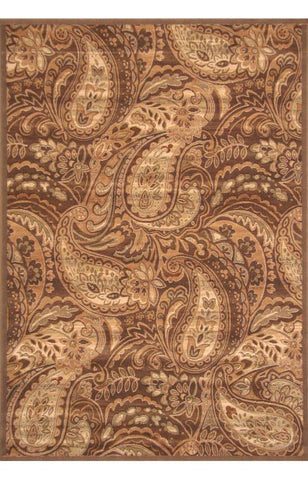Bayden Hill 2015-8x10 Essentials Paisley Brown/Ivory/Sage Area Rug - Peazz.com