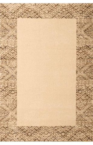 Bayden Hill 2500-8x10 Granada Borders Ivory/Brown Area Rug - Peazz.com